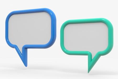 Bubble talk. Computer generated image. Stock Photo - 10551943
