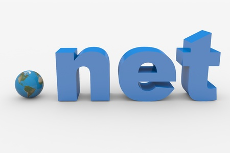3D word NET. Earth spere replacing dot. Computer generated image. Stock Photo - 10560433
