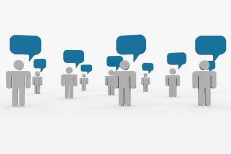 vélemény: Az emberek beszélnek. Fogalma a globális közösséget. Számítógép által generált képek. Stock fotó