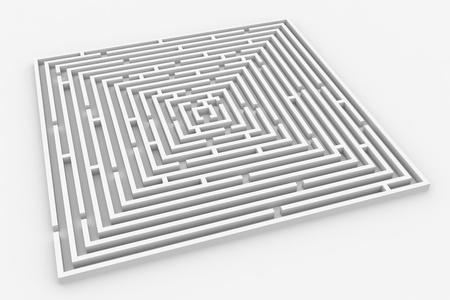 shortcut: 3D maze. Computer generated image.