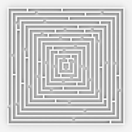 computer generated image: Labirinto 3D. Vista dall'alto. Computer Generated Image.