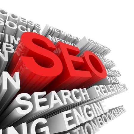 SEO concept. Computer generated image. Stock Photo - 11701454
