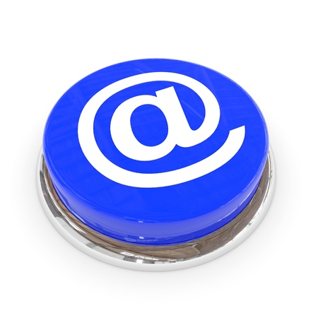 Blue round button with E-MAIL sign. Computer generated image. Stock Photo - 11701468