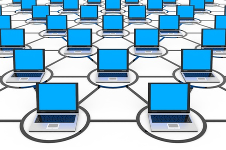Abstract computer network. Concept. Computer generated image. Stock Photo - 11701455