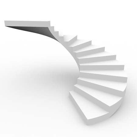 Spiral staircase. Computer generated image. Stock Photo
