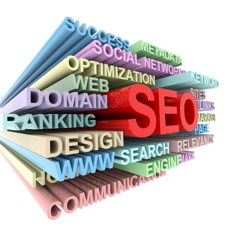 search engines: SEO concept. Computer generated image.