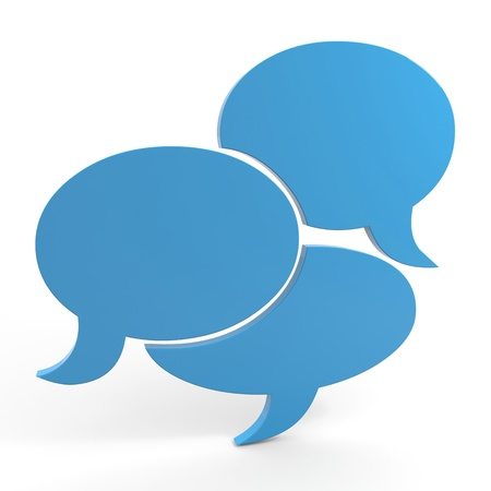 dialogo: Bocadillo. Imagen generada por ordenador. Foto de archivo