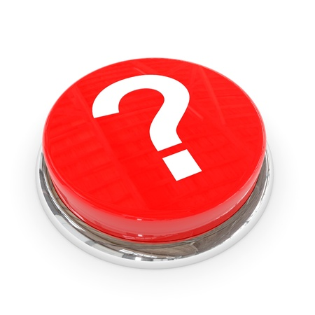 Red round button with white question mark. Computer generated image. Stock Photo - 11701500