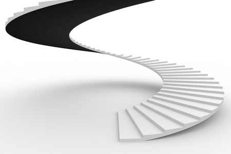 Spiral staircase. Computer generated image. Stockfoto