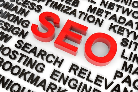 SEO concept. Computer generated image. Stock Photo - 11818197