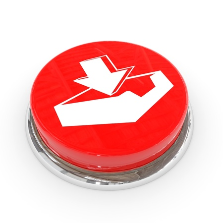 Red round button with download sign. Computer generated image. Stock Photo - 11818172