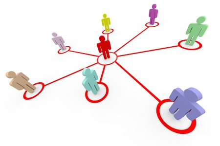 Business or social network. Concept. Computer generated image. photo