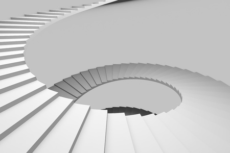 Spiral staircase. Computer generated image. Standard-Bild