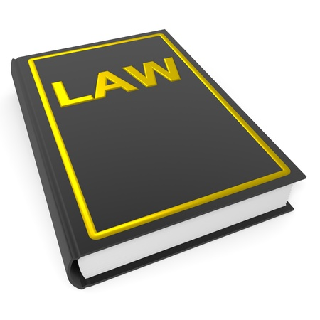 Law book. Computer generated image. photo