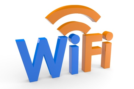 wifi: Wifi concept. Computer generated image. Stock Photo
