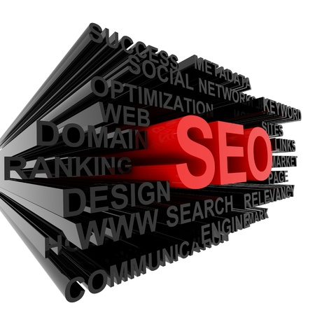 SEO concept. Computer generated image. Stock Photo - 12555432