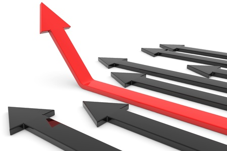 Red arrow up. Concept of success, growth. Computer generated image. Stock Photo - 12835082