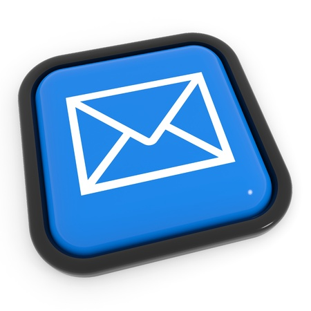 Blue mail button. Computer generated image. Stock Photo - 12835173