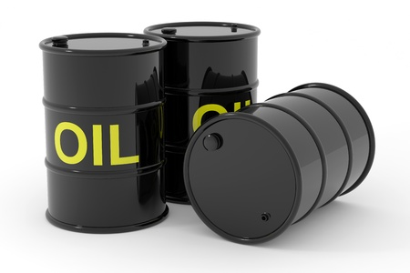 Oil barrels.  Computer generated image. Stock Photo - 12835130