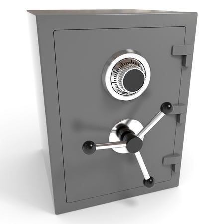 Safe on white. Computer generated image. Stock Photo - 12835211