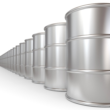 Oil barrels.  Computer generated image. Stock Photo - 12839080