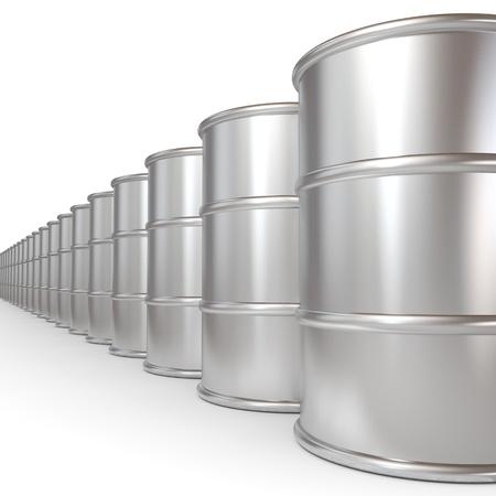 fuel crisis: Oil barrels.  Computer generated image.