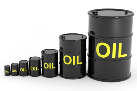 Oil barrels different size. Computer generated image. Stock Photo - 12839034