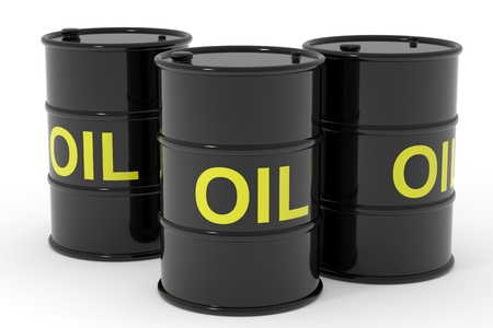 Oil barrels.  Computer generated image. Stock Photo - 12839040