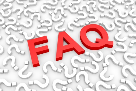 Red FAQ word around questions. Computer generated image. Stock Photo - 12839071