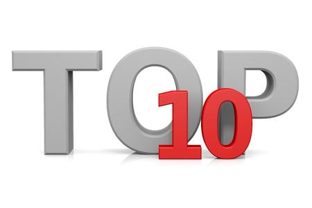 Top ten. Computer generated image. photo
