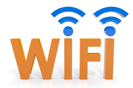 wireless hot spot: Wifi concept. Computer generated image. Stock Photo