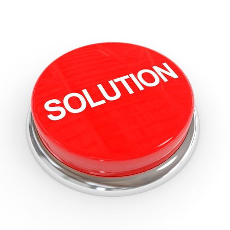 Red solution button. Computer generated image. Stock Photo - 12839048
