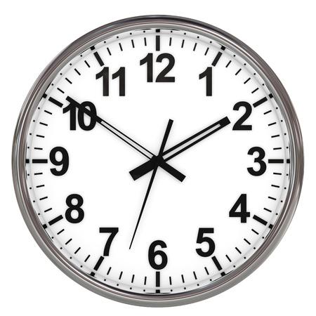 computer generated image: Orologio su sfondo bianco. Computer generato immagine.