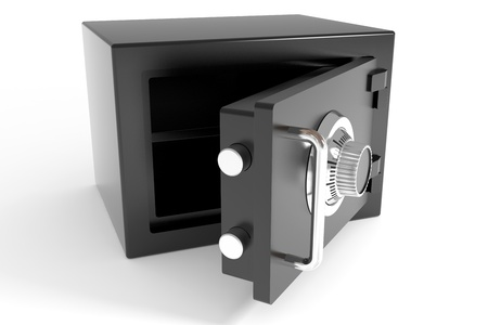 Open safe. Computer generated image. photo