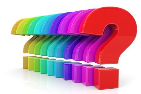 computer generated image: Domande colorate. Computer generato immagine.