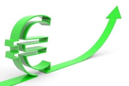 Euro success. Computer generated image. Stock Photo - 12952822