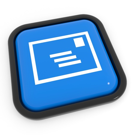 Blue mail button. Computer generated image. Stock Photo - 12952889