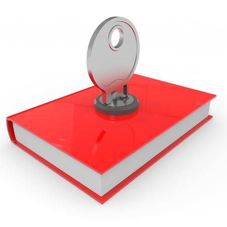 Red book locked. Computer generated image. Stock Photo - 12952912