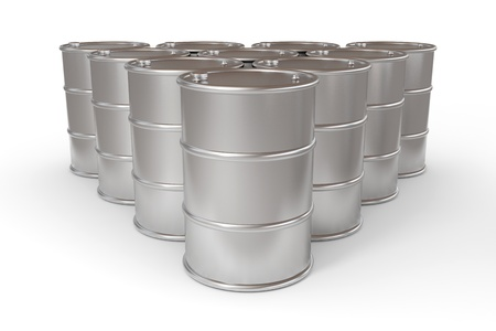 Oil barrels.  Computer generated image. photo