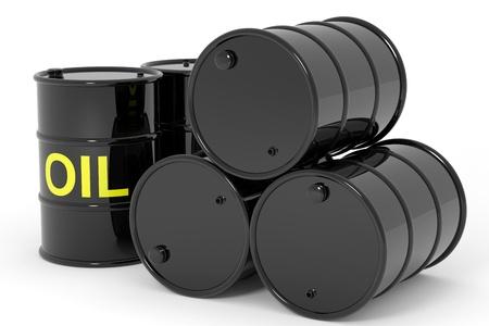 barril de petróleo: Barriles de petróleo. Imagen generada por ordenador.