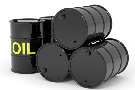 Oil barrels.  Computer generated image. Stock Photo - 12952898