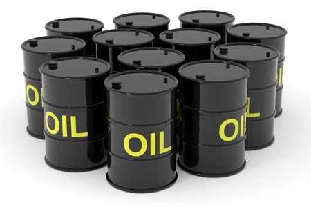 Oil barrels.  Computer generated image. Stock Photo - 12952920