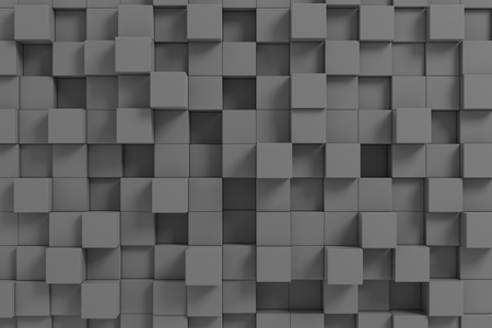 Dark cubes. Background. Computer generated image. Stock Photo - 12952965