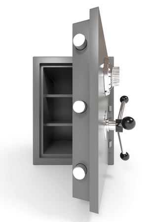 Open empty safe. Computer generated image. photo