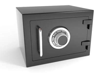 safe lock: Closed safe. Computer generated image.