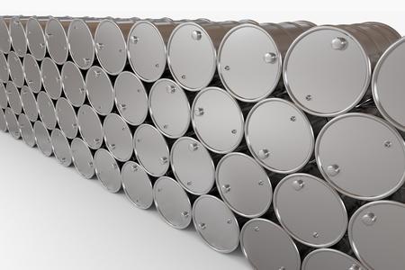 Oil barrels.  Computer generated image. photo
