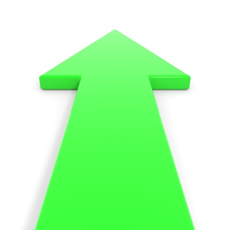 Green arrow going forward. Computer generated image. Stock Photo - 13023904