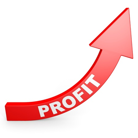 Increase your profit. Computer generated image. photo