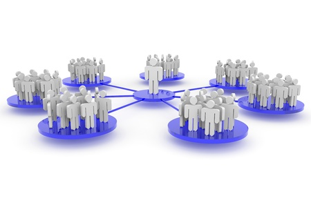Business or social network. Concept. Computer generated image.