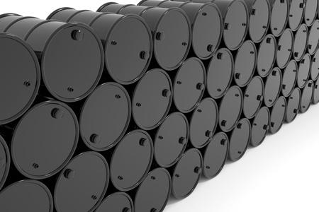 oil barrel: Oil barrels.  Computer generated image.